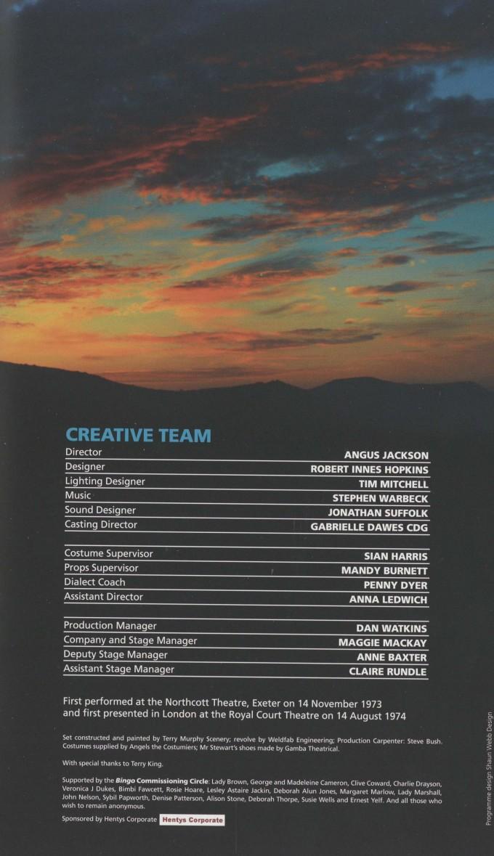 Cast List - Bingo - 2010 - 2 of 2