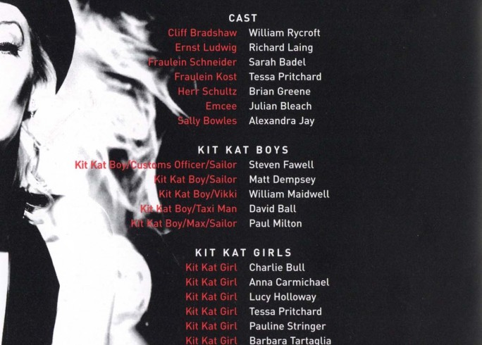 Cast List - Cabaret - 2002 - 1 of 2