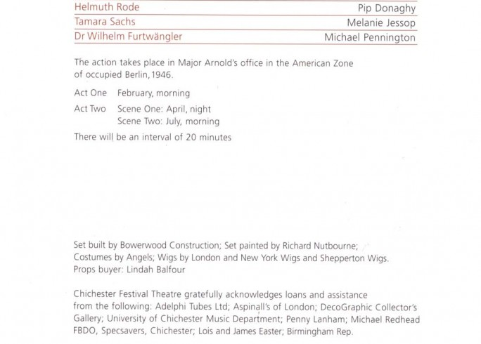Cast List - Collaboration, Taking Sides - 2008 - 2 of 2