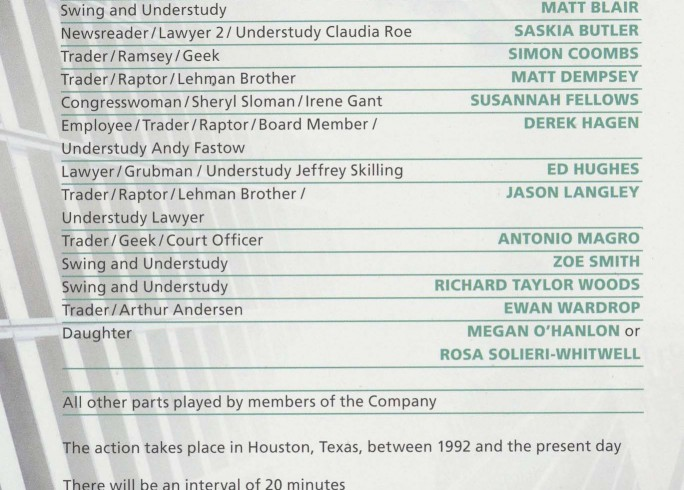 Cast List - Enron - 2010 - 1 of 2