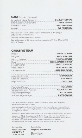 Cast List - If Only - 2013