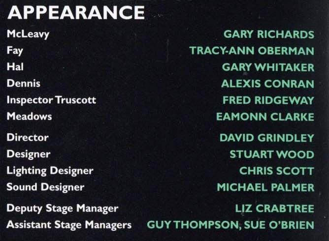 Cast List - Loot - 1998