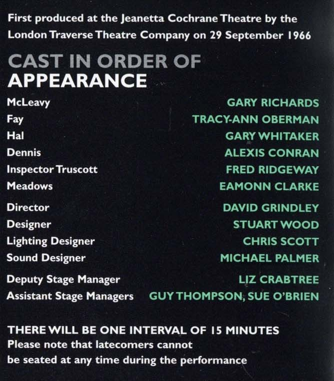 Cast List - Loot - 1998