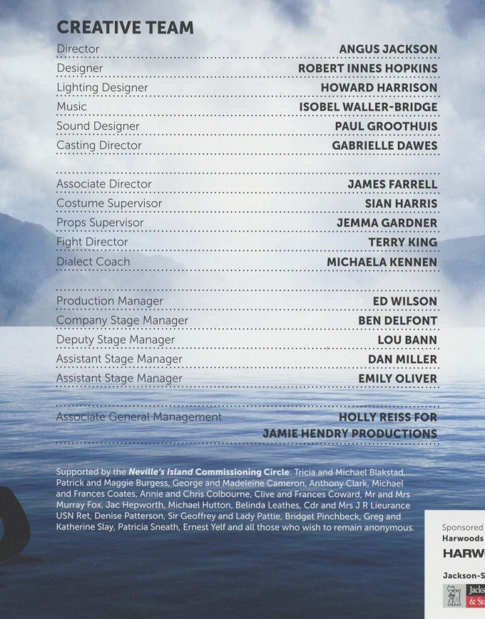 Cast List - Neville's Island - 2013 - 2 of 2