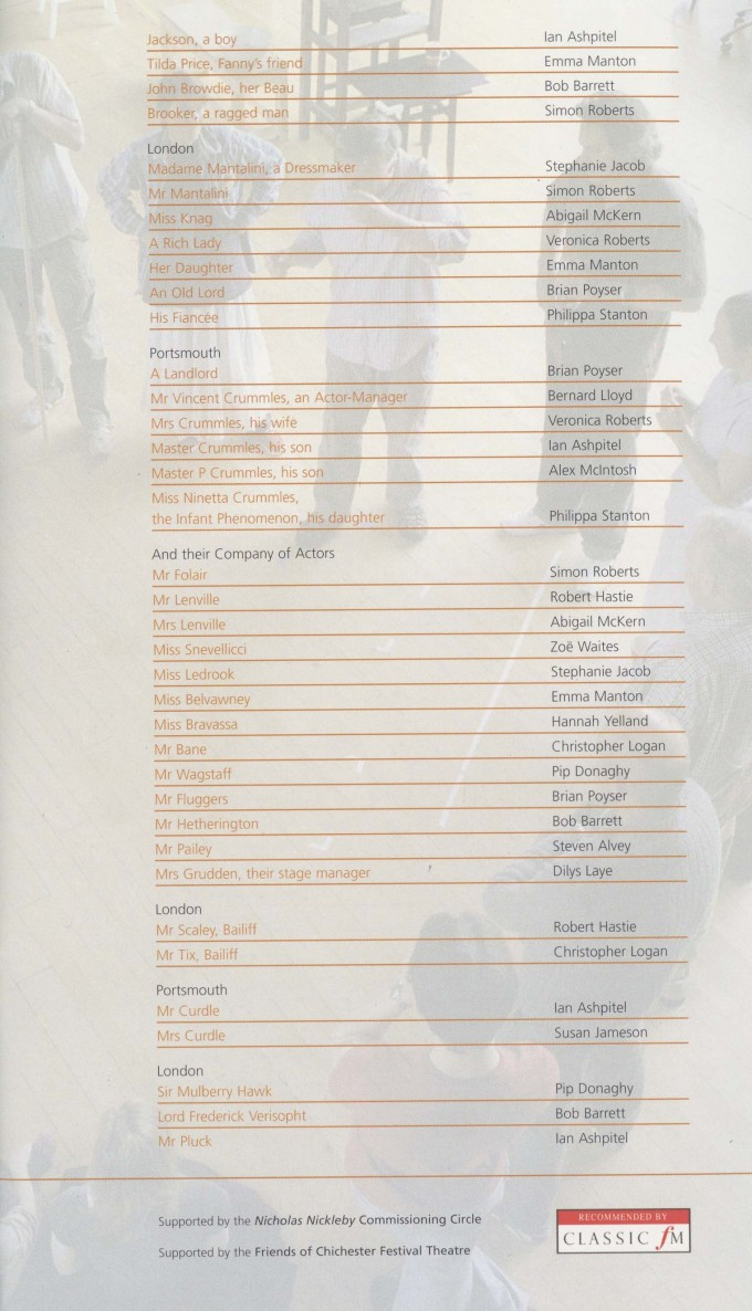 Cast List - Nicholas Nickleby - Parts I & II- 2006 - 2 of 4