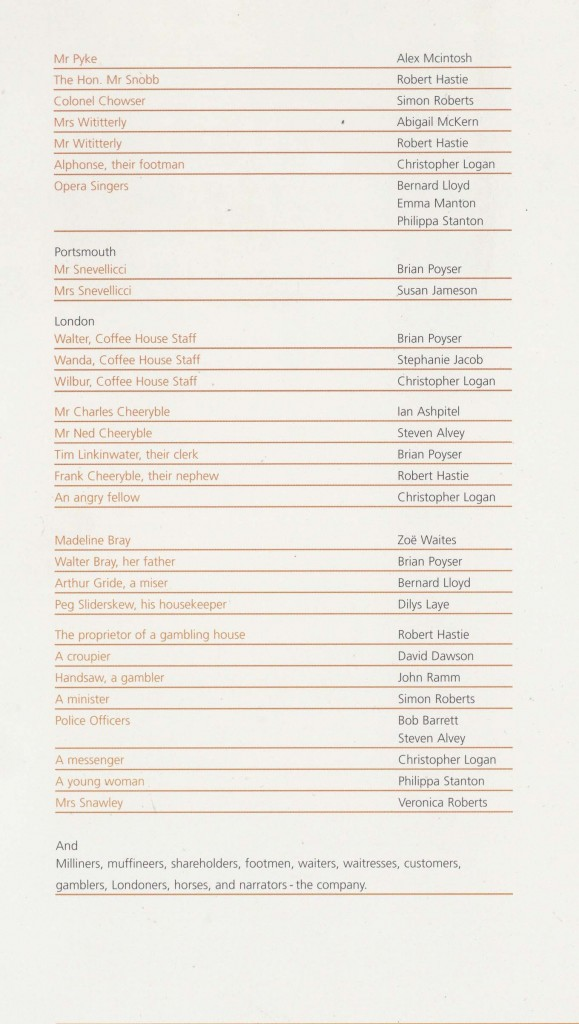 Cast List - Nicholas Nickleby - Parts I & II- 2006 - 3 of 4