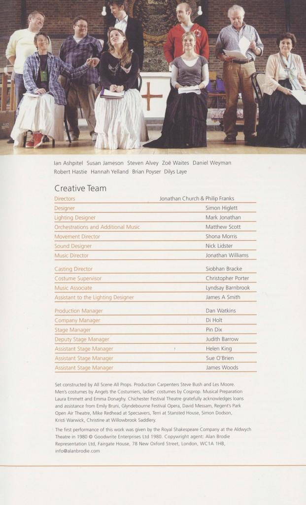 Cast List - Nicholas Nickleby - Parts I & II- 2006 - 4 of 4