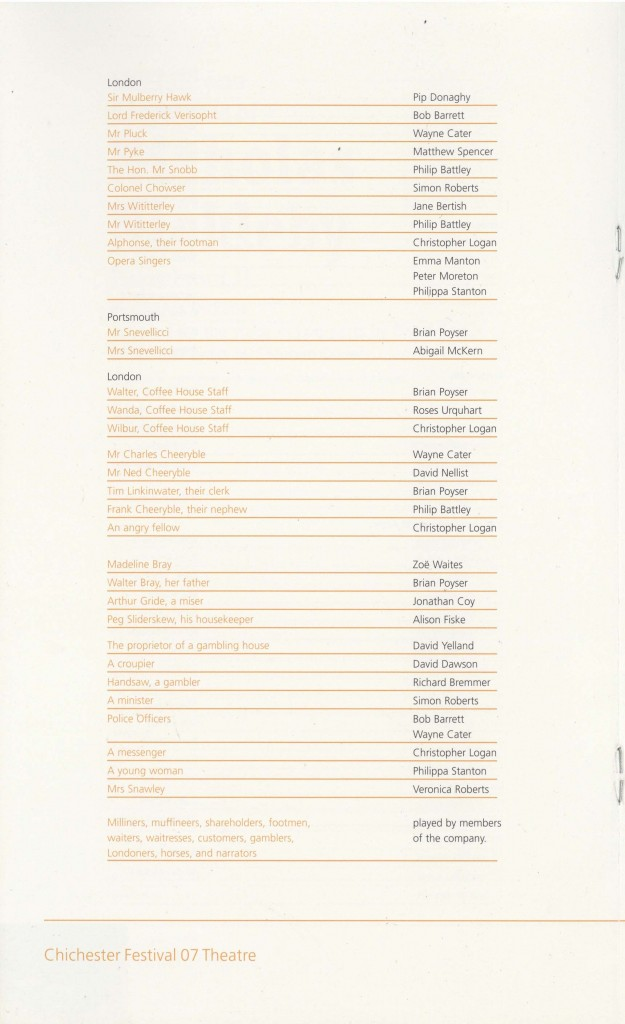 Cast List - Nicholas Nickleby - Parts I & II- 2007 - 3 of 4