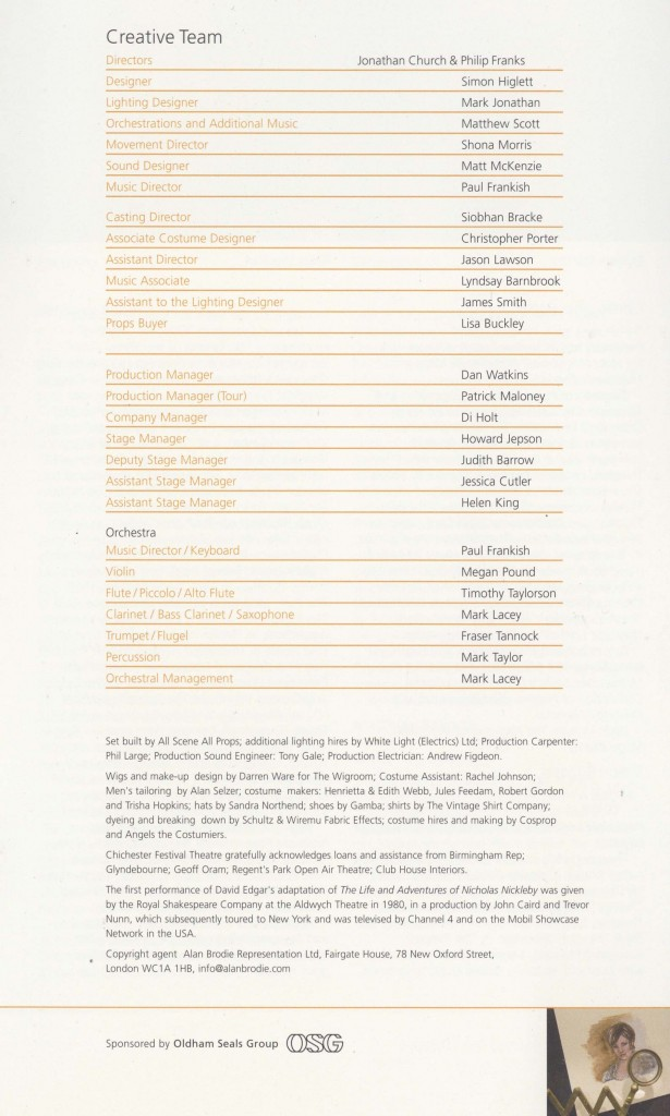 Cast List - Nicholas Nickleby - Parts I & II - 2007- 4 of 4