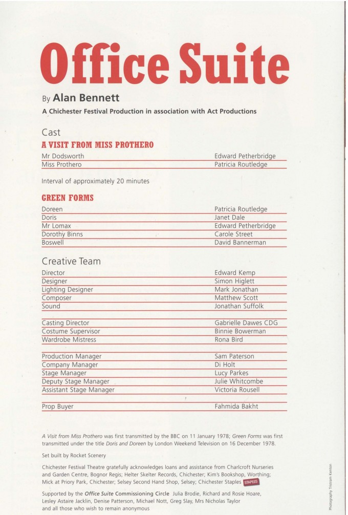 Cast List - Office Suite - 2007