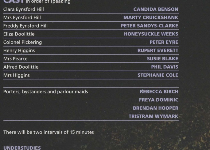 Cast List - Pygmalion - 2010 - 1 of 2