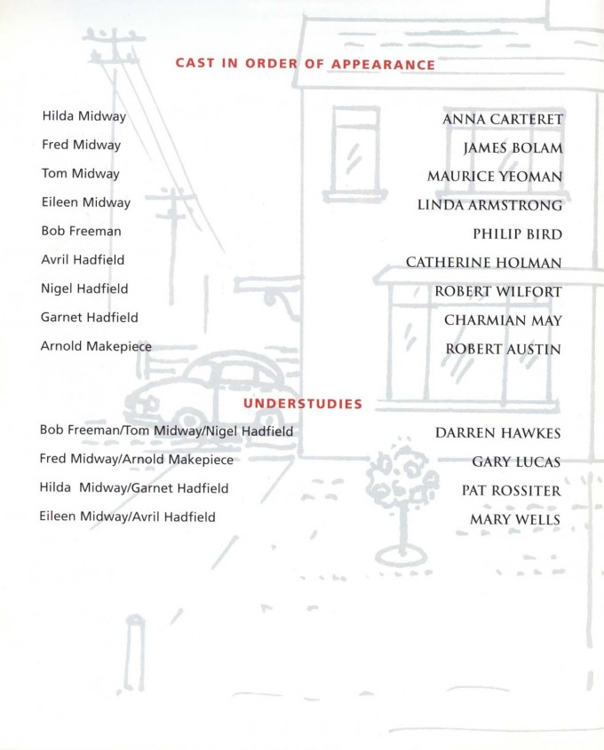Cast List - Semi-Detached - 1999 - 1 of 2