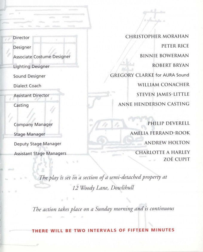 Cast List - Semi-Detached - 1999 - 2 of 2