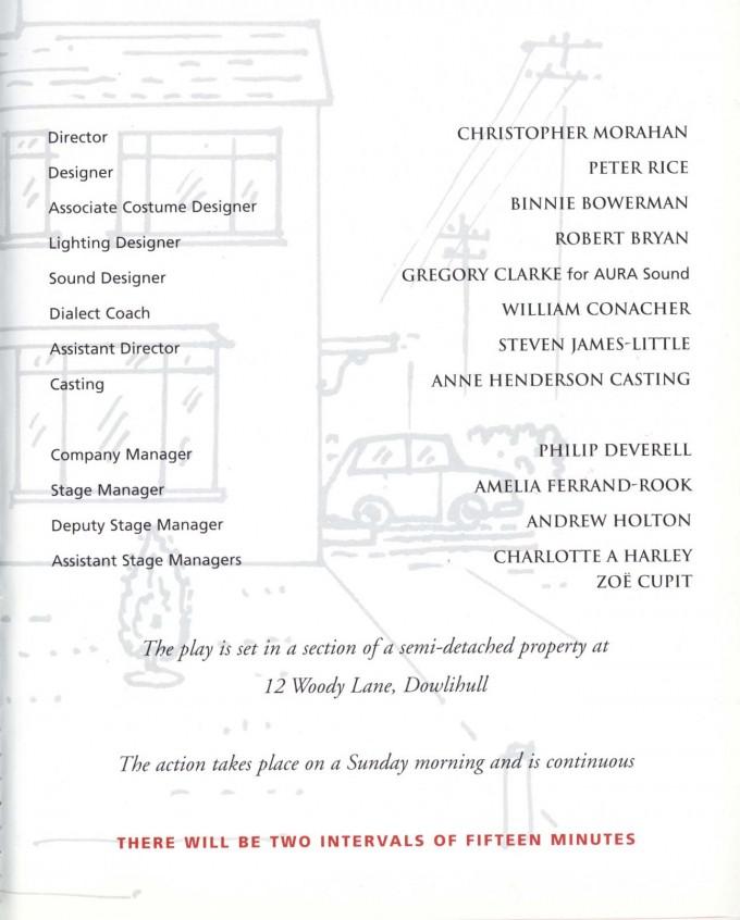 Cast List - Semi-Detached - 1999 - 2 of 2