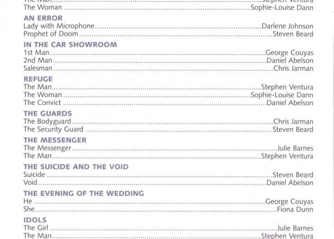 Cast List - Seven Doors - 2003 - 1 of 2
