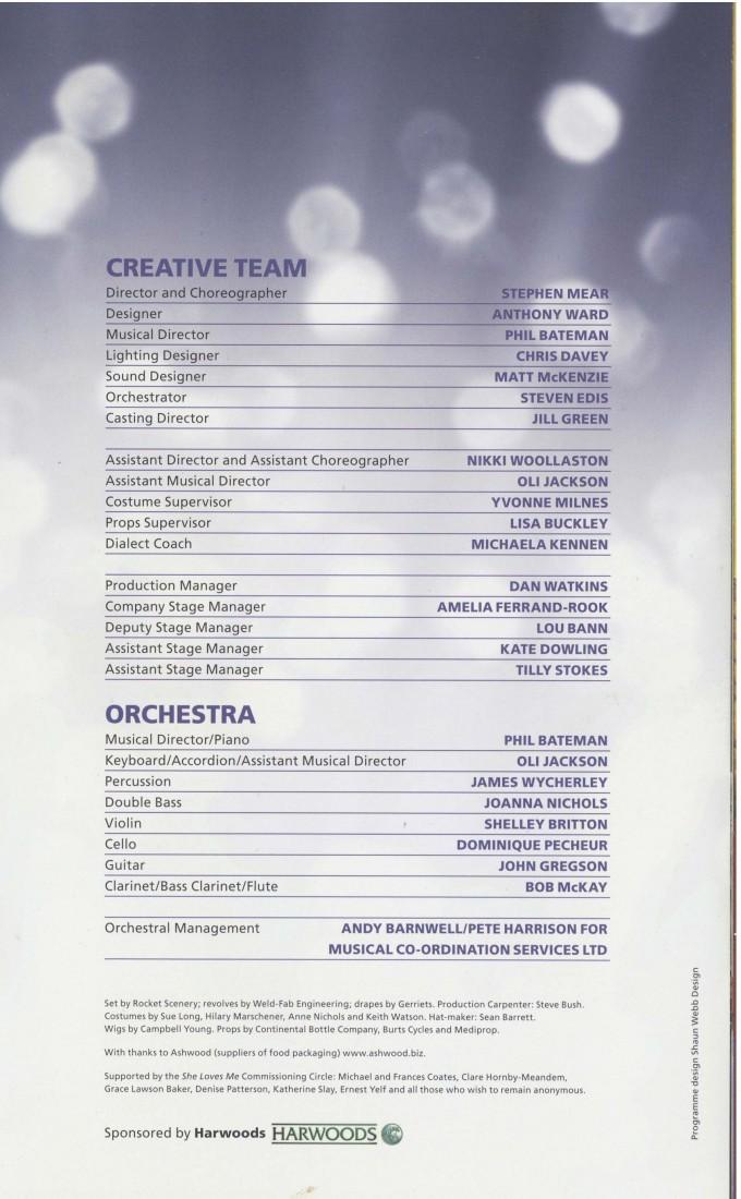 Cast List - She Loves Me - 2011- 2 of 2