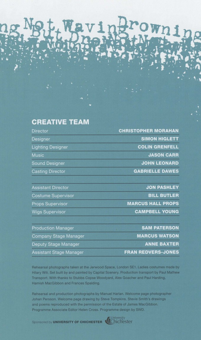 Cast List - Stevie - 2014 - 2 of 2
