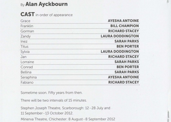 Cast List - Surprises, Absurd Person Singular - 2012 - 1 of 2