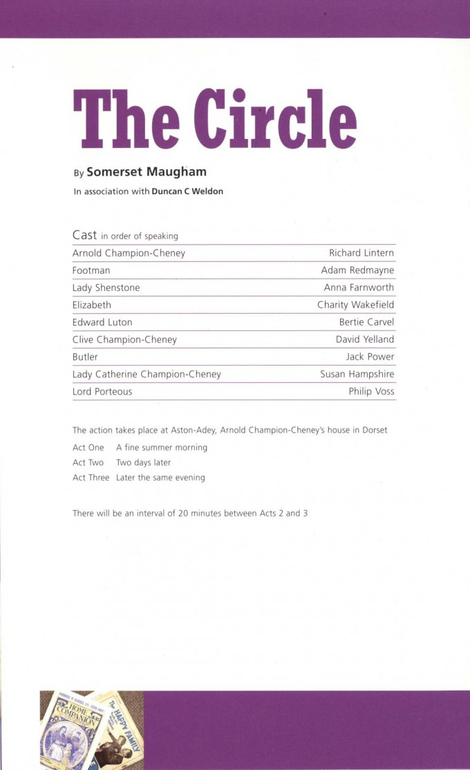 Cast List - The Circle - 2008 - 1 of 2