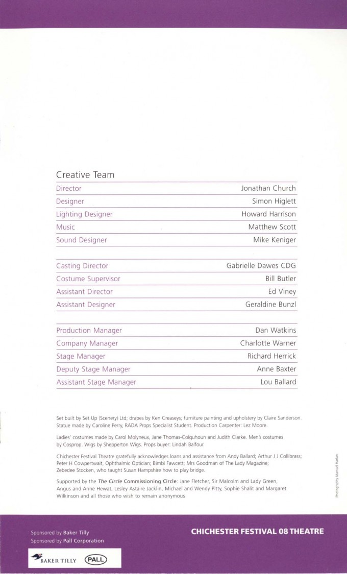 Cast List - The Circle - 2008 - 2 of 2