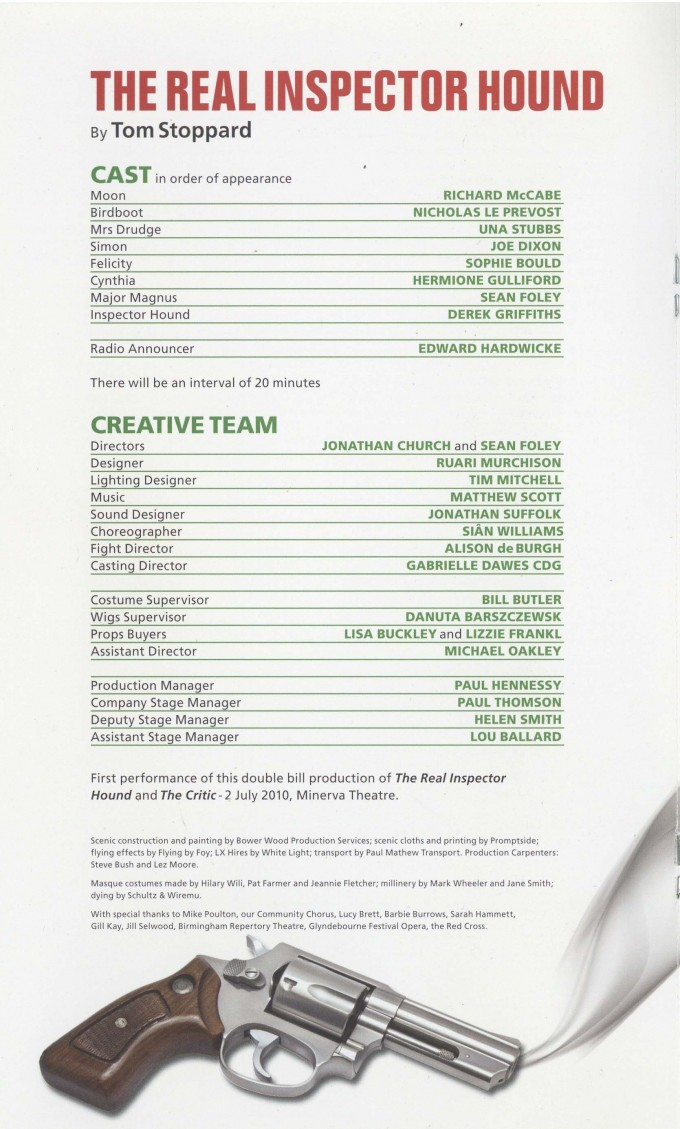 Cast List - The Critic, The Real Inspector Hound - 2010-01 - 1 of 2