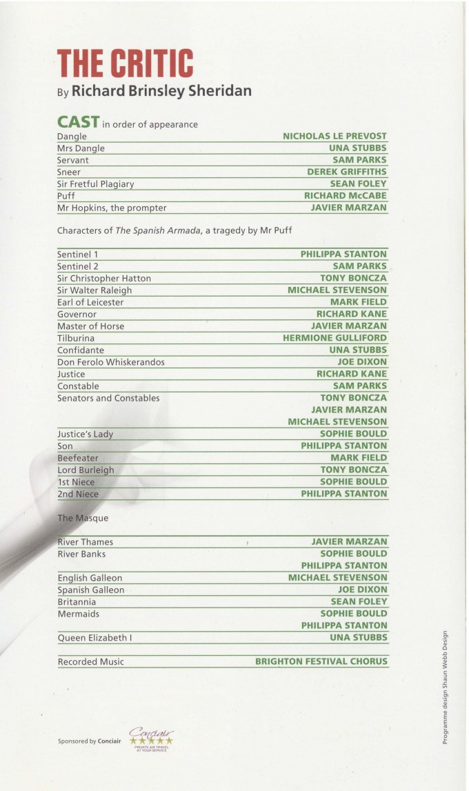 Cast List - The Critic, The Real Inspector Hound - 2010 - 2 of 2