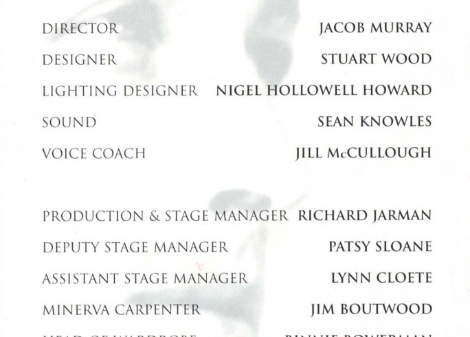 Cast List - The Glass Menagerie  - 1998
