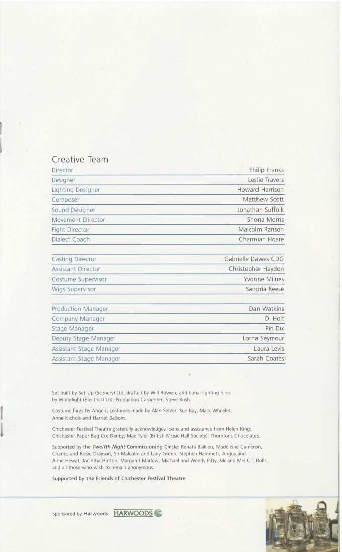 Cast List - Twelfth Night - 2007 - 2 of 2