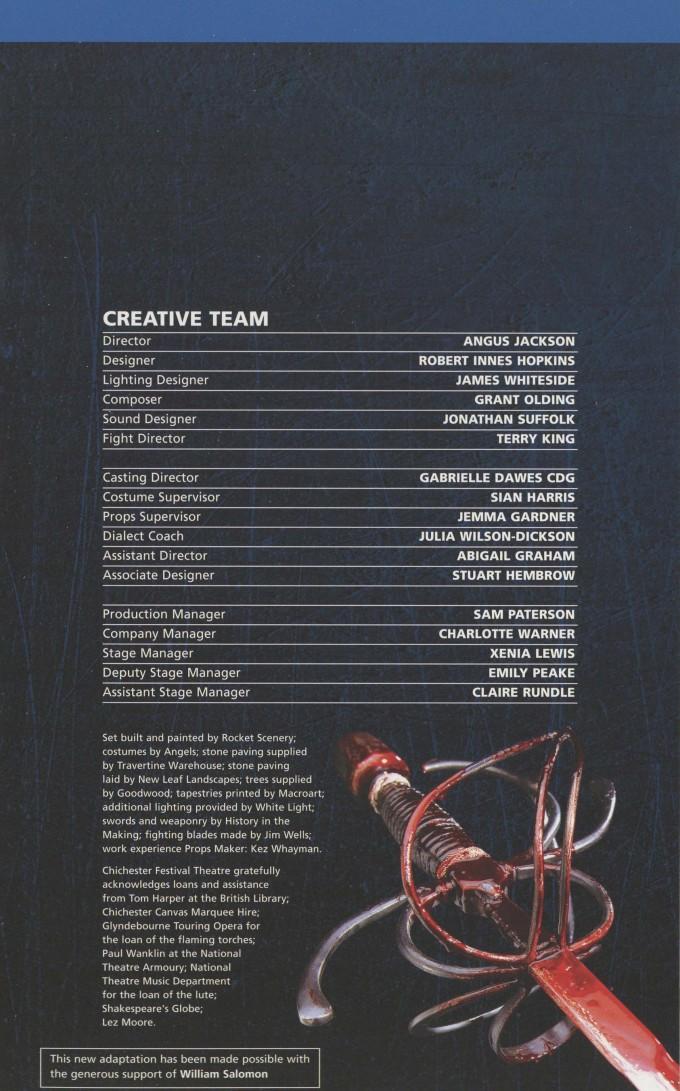 Cast List - Wallenstein - 2009 - 2 of 2
