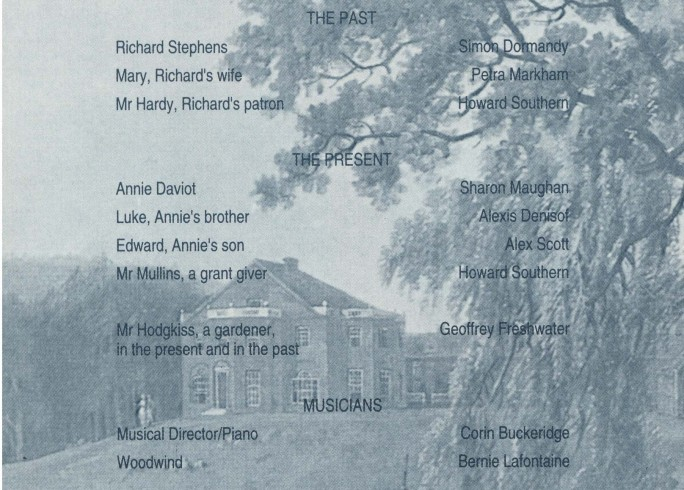 Cast list - Adam was a Gardener - 1991