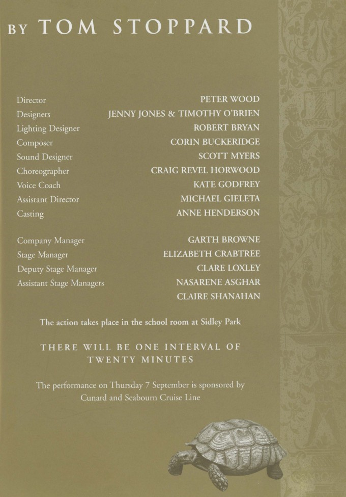 Cast list - Arcadia - 2000 - 1 of 2