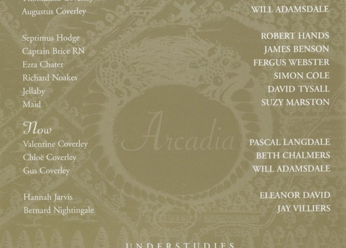 Cast list - Arcadia - 2000 - 2 of 2