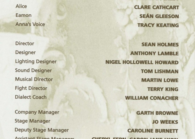 Cast list - Aristocrats - 2000