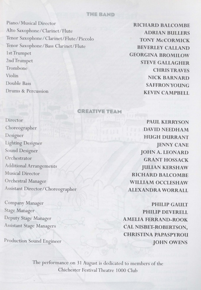 Cast list - Divorce me Darling - 1997 - 1 of 2