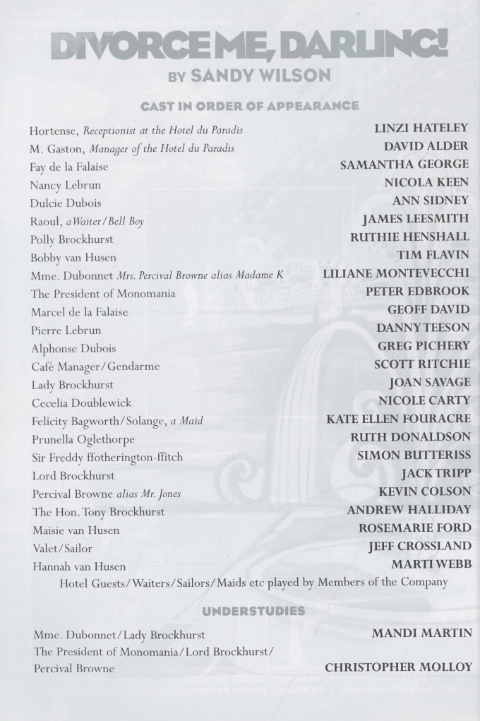 Cast list - Divorce me Darling - 1997 - 2 of 2