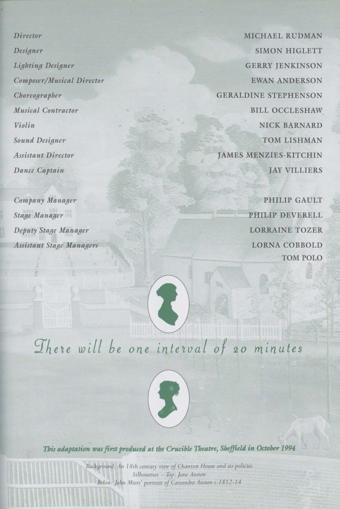 Cast list -Mansfield Park - 1996 - 2 of 2
