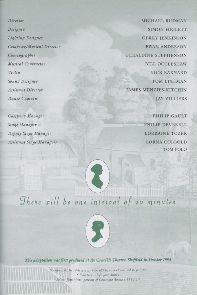 Cast list -Mansfield Park - 1996 - 2 of 2