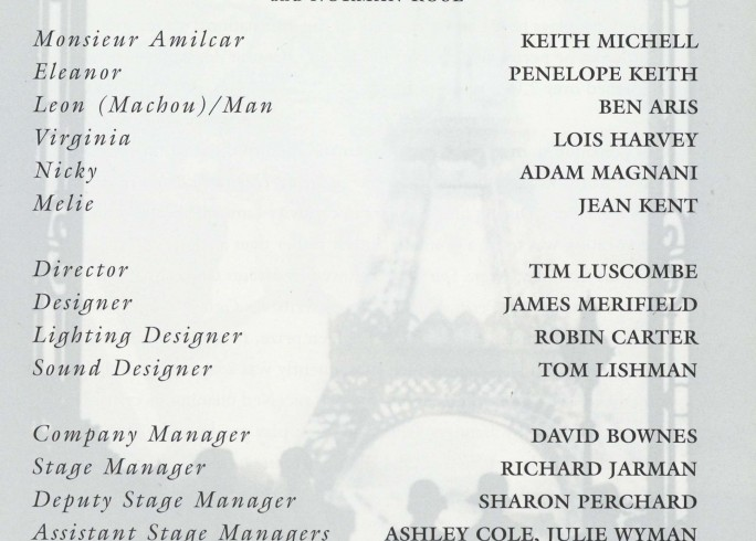 Cast list - Monsieur Amilcar - 1995