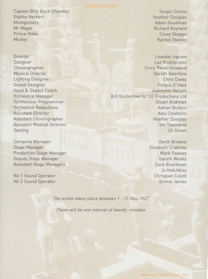 Cast list - My One and Only - 2002 - 1 of 2