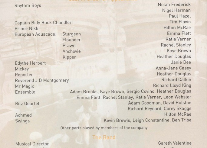 Cast list - My One and Only - 2002 - 2 of 2