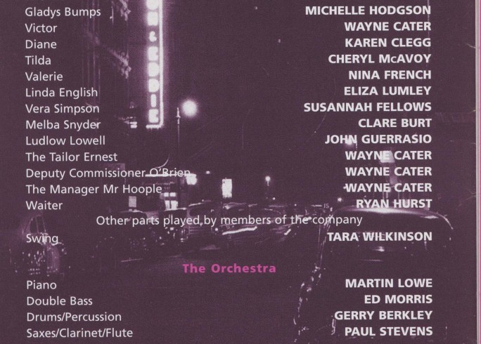 Cast list - Pal Joey - 2000