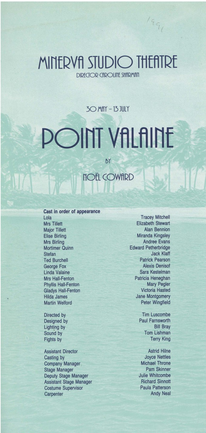 Cast list - Point Valaine - 1991