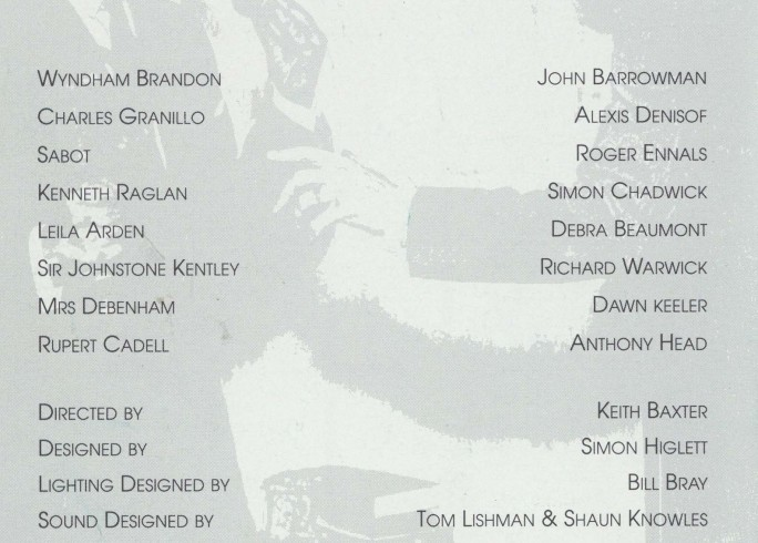 Cast list - Rope - 1993