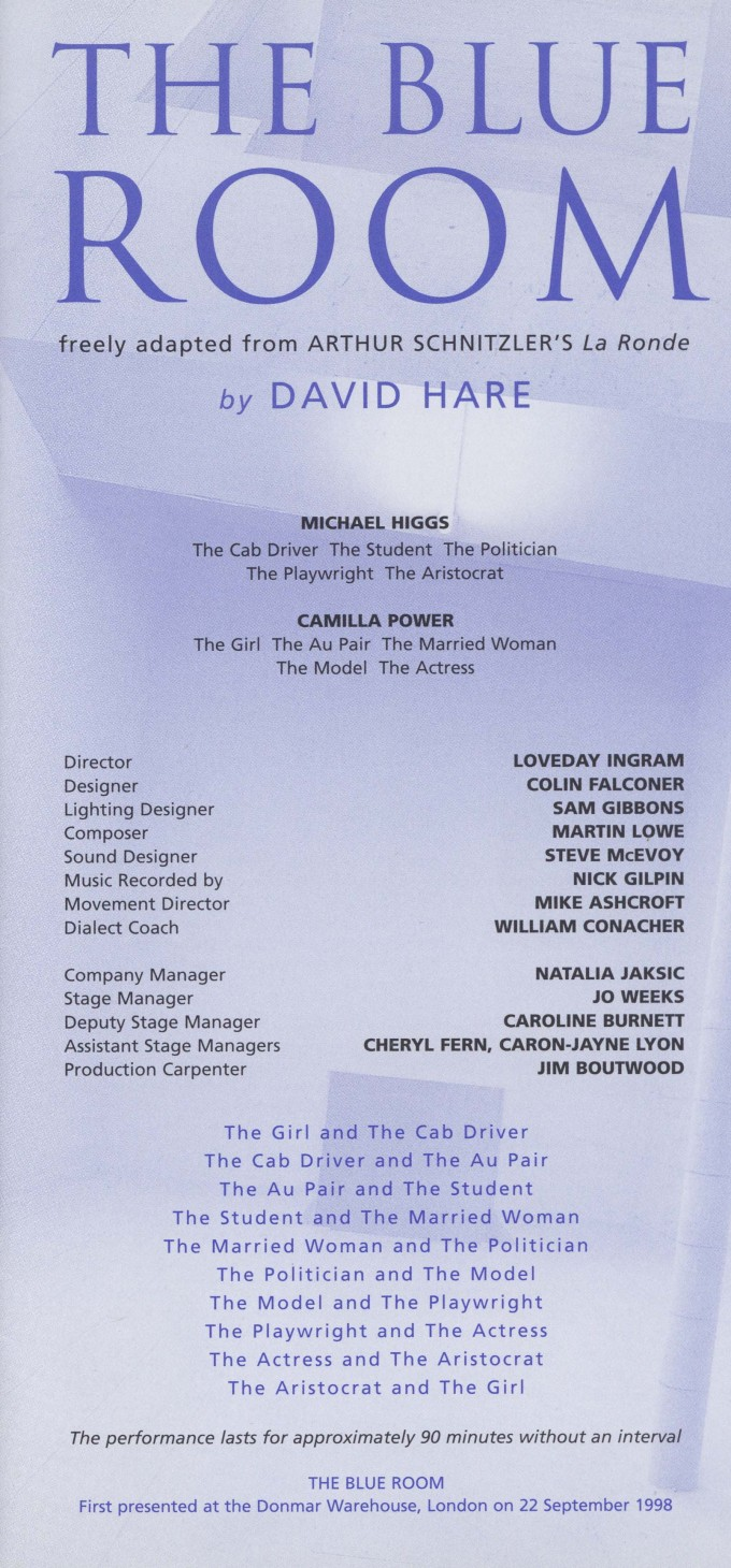 Cast list  -The Blue Room -  2000