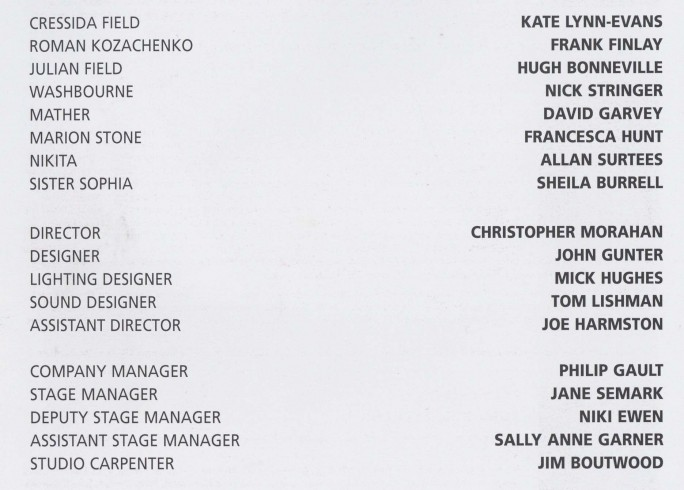 Cast list - The Handyman - 1996