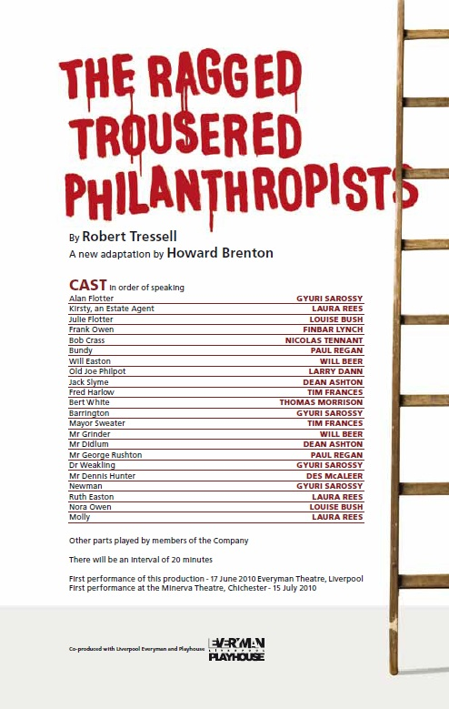 Cast list - The Ragged Trousered Philanthropists - 2010 - 1 of 2