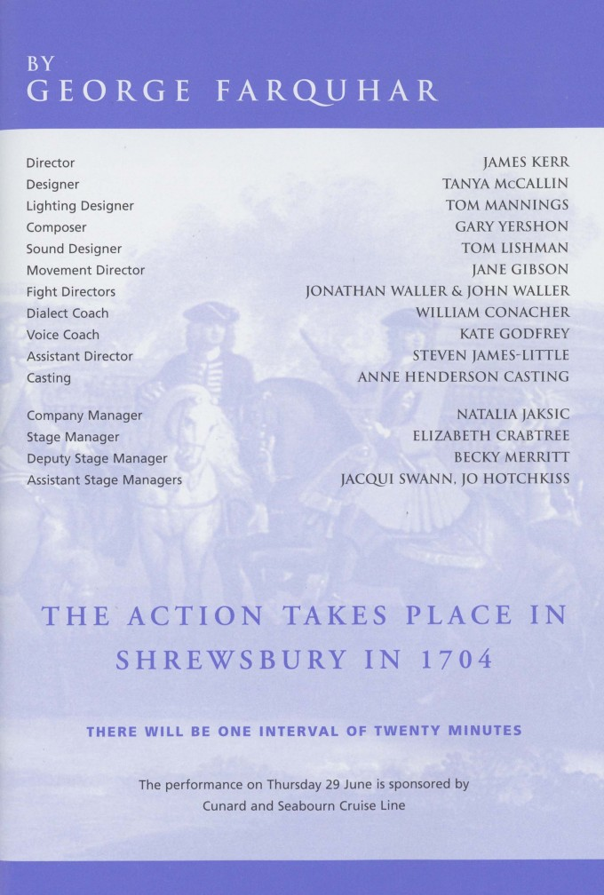 Cast list  -  The Recruiting Officer - 2000 - 2 of 2
