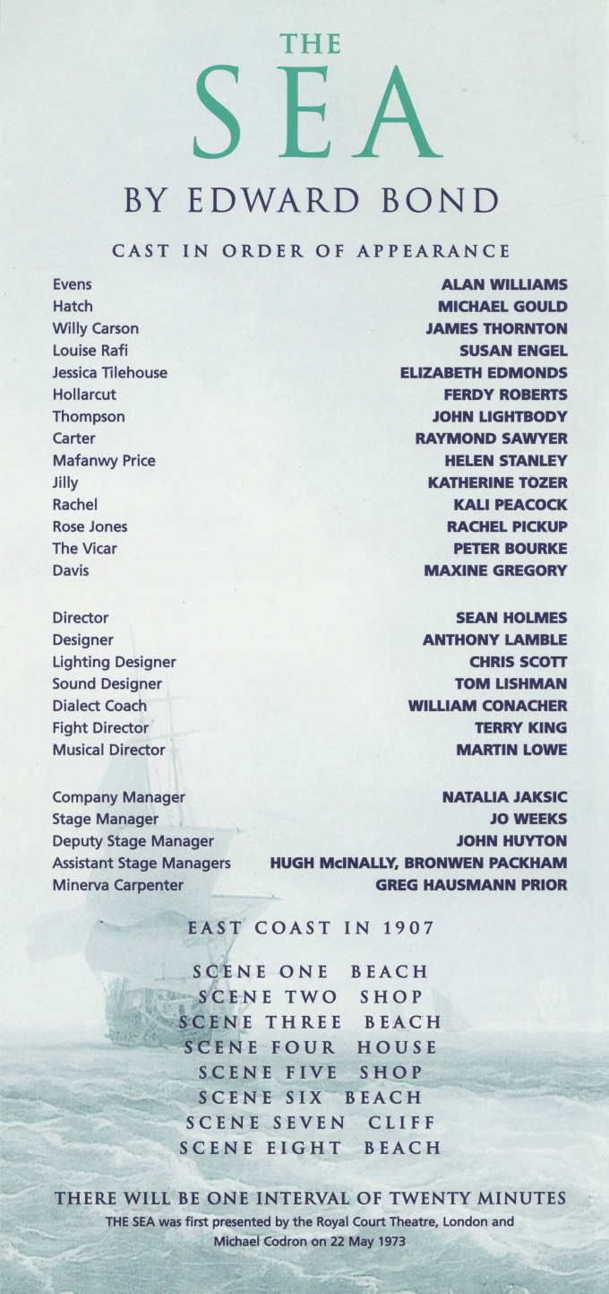 Cast list - The Sea -  2000