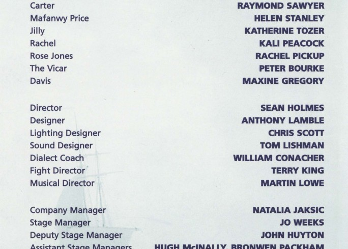 Cast list - The Sea -  2000