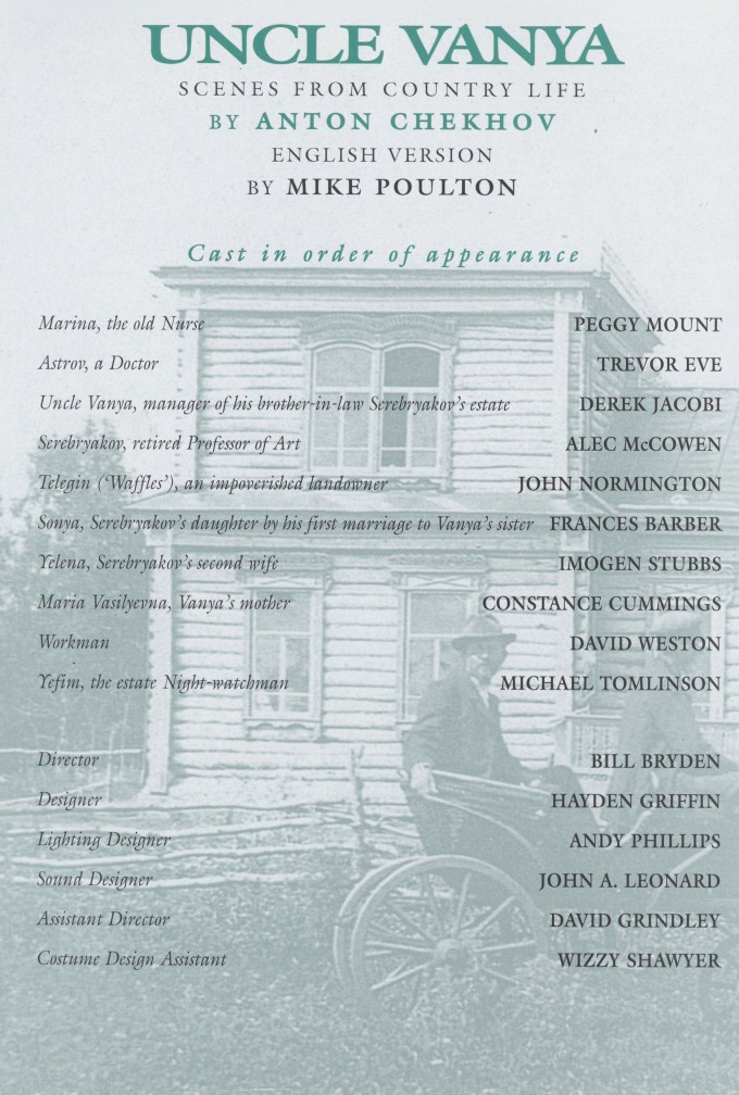 Cast list  -  Uncle Vanya - 1996 - 2 of 2